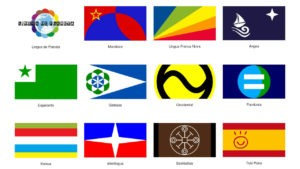 Flags of Common Languages or International Auxiliary Languages (IAL)